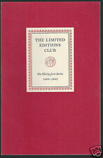 The Limited Editions Club 31st Series Prospectus 1962 1963
