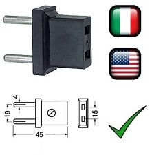 Adattatore spina 220V a spina 110V da passo italiano a passo americano USA 110V