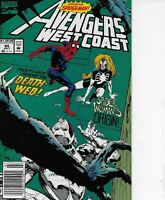 Avengers West Coast #84, #85, #86 Marvel Spider -Man A long Came a Spider All 3!