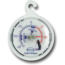 2x Brannan Premium 65mm White Dial Fridge Freezer Gauge Thermometer -