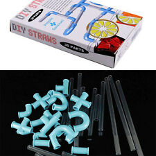 Recesky DIY Drinking Straws Novelty Party Game Present Toy Art Creative