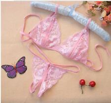 Womens Sissy/Sexy Lingerie Lace Babydoll Sleepwear+G-string Nightwear Underwear