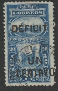 Peru Postage Due 1902 1c on 20c Used South America A18P24F470