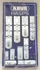 VINTAGE AND VERY RARE ABUS HASPS STORE DISPLAY WITH 10 HASPS