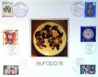 EUROPA 1976 ANDORRE MONACO FRANCE   FEUILLET PHILATÉLIQUE CEF 347 S