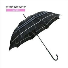 New Burberry Japan Trafalgar Check Walking Stick Umbrella Gray from JAPAN F/S