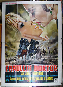 manifesto 4F film FRAULEIN DOKTOR Suzy Kendall Capucine Alberto Lattuada 1968