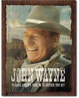 John Wayne Metal Tin Sign Fine Day Cowboy The Duke Home Garage Wall Decor #2228