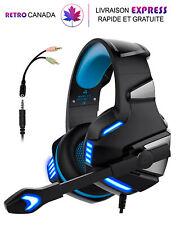 Casque de jeu avec micro pour PS4 Xbox One pc, réduction du bruit, éclairage LED