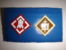 2 Vietnam War Lapel Pins: US 18th ENGINEER Brigade + US 20th ENGINEER Brigade