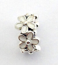 Authentic Pandora Darling Daisies White Spacer 925 Silver Charm 791495EN12 New