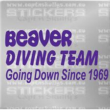 PRIDE BEAVER DIVING TEAM DECAL 200x105mm Captn Skullys Stickers Online MPN 1347