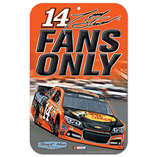 New NASCAR Tony Stewart #14 Bass Pro Shops Mobil Parking Sign Reserved Plastic