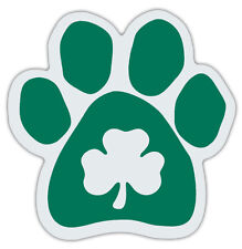 Clover Dog Paw Car Magnets - Irish Green - Great Design For Irish Setters