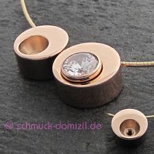 MelanO Twisted Ketten Anhänger - Edelstahl ROTGOLD vergoldet - 16 mm