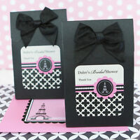 36 Personalized Parisian Paris Bridal Shower Wedding Candy Boxes Bags Favors