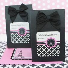 24 Personalized Parisian Paris Bridal Shower Wedding Candy Boxes Bags Favors