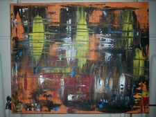 16 x 20 abstract painting signed dated  shortiez ink graffiti art