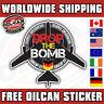 DROP THE BOMB - EURO DIVISION car sticker NEW DESIGN 85mm