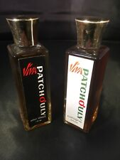 Viva Patchouly 2 Ounce Bottles of Vintage 70's Cologne & After Shave Rare
