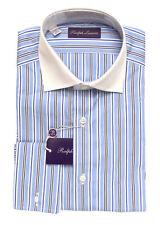 Ralph Lauren Purple Label Striped French Cuff Dress Shirt 15 New $450