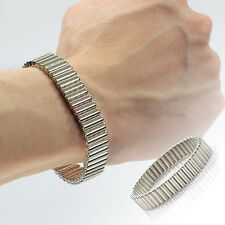 """Silver 8.5"""" Removable Magnetic Therapy Rare Earth Neodymium Wristband Bracelet"""