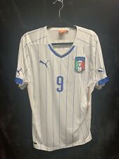 New Listing2014 World Cup Puma Italia Italy Balotelli #9 Soccer Jersey Away Mens Xl