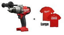 "Milwaukee M18 Gen2 FUEL 1/2"" Compact Hammer Drill/Driver 2704-20 New + T-Shirt L"