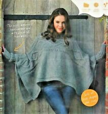 """2524 LADIES GIRLS CHUNKY CABLE CAPE 32-50""""  VINTAGE KNITTING PATTERN"""