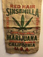 Vintage Style Import/Export Cannabis Burlap Sack-California