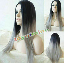 Women's Long Straight Full Hair Cosplay Party Synthetic Anime Wigs /Wig new