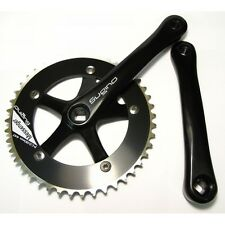 "Sugino RD2 Messenger Single Speed Crankset // 44T // 170mm // 1/8"" // Black"