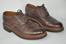 Grenson Archie Commando Sole Brogue Shoes  Brown  8