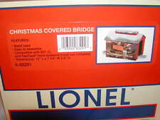 """Lionel 6-83291 Christmas Covered 12"""" Bridge New 2016 MIB O 027 Lighted 1 lamp"""