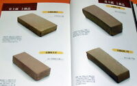 Sharpening stone and Japanese cutlery book whetstones water stones knife #0231