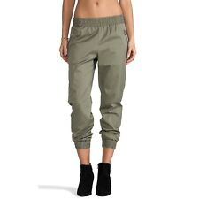 MBMJ Small Samantha Olive Green Twill Utility Jogger Pants