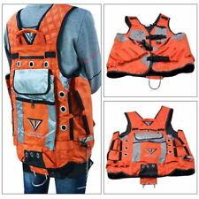 Orange Electrician Carpenter Framer Plumber Craftman Construction Tool Vest Y