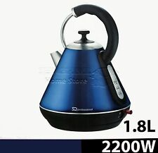 1.8L Litre Cordless Electric Kettle Fast Boil Jug Washable Filter 2200w S- Blue