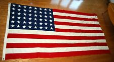 """VTG Very Large Valley Forge Flag Co 48 Star Flag Cotton Appliqué USA 107""""x54"""""""