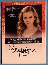 Harry Potter-H&V-Emma Watson-Hermione Granger-Signature-Autograph Card-AUTHENTIC