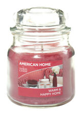 NEW! AMERICAN HOME By Yankee Candle Pink Jar Candle Warm & Happy Scent 12 oz.