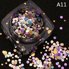 1.5g Mixed Thin Nail Art Glitter Paillette Nail TipGel Polish Decoration^