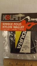Vtg Kolpin Single Fold Brown Cordura Nylon Wallet NOS Made in Berlin Wi USA