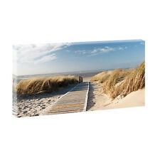 Wandbild Strand Meer Keilrahmen Bild Deko XXL Nordseestrand-80 cm*40 cm 301