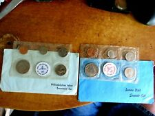 1983 P and 1983 D  Sets - Uncirculated BU Coins in Envelopes