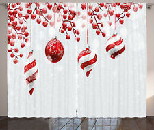 Christmas Curtains Traditional Icons Window Drapes 2 Panel Set 108x84 Inches
