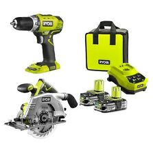 Ryobi One+ 18V Compact Drill Driver With 165mm Circular Saw Combo Kit