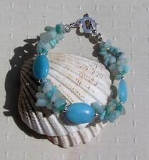 """Amazonite Crystal Gemstone Bracelet """"Amazine"""""""