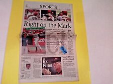 MARK MCGWIRE L.A. TIMES VINTAGE BASEBALL HOME RUN KING NEWSPAPER VERY RARE!!!