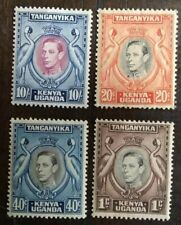 1938-52 King George VI - Definitive RARE Set - 10/- 40c 20c 1c MNH KUT Kenya